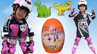 Trò Chơi Săn Trứng Khủng Long Cùng Với Giày Trượt Patin Flying Eagle S5S ❤ AnAn ToysReview TV ❤