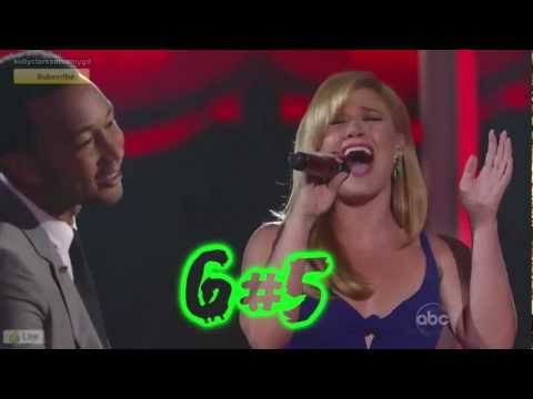 Kelly Clarkson: Highest Belts in Duets Era E5 - A5 May - July '12