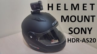 Sony HDR-AS20 How to Helmet Mount | TEST RIDE