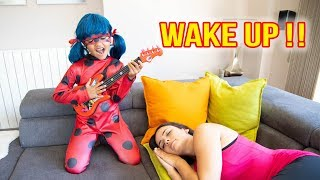 BIA LOBO PLAY MUSICAL INSTRUMENTS AND WAKE UP