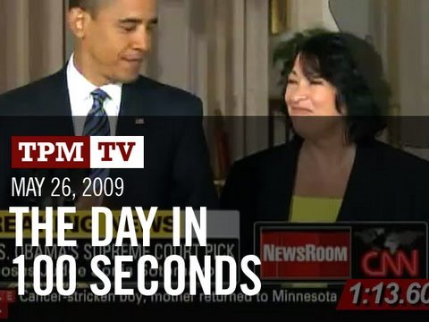 The Day in 100 Seconds: It s Sonia!
