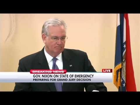 Missouri Gov. Jay Nixon news conference Nov. 18