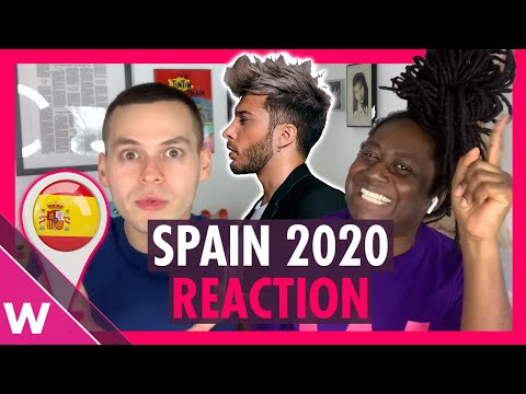 "Spain Eurovision 2020 Reaction | Blas Cantó ""Universo"""