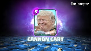 Canon Cart Song | Trump Remix | Clash Royale | Funny Video