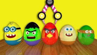 superhero eggs finger family song, learn colors with superheroes eggs
