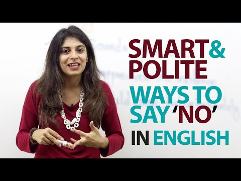 Smart And Polite Ways To Say 'no' In English - Free Spoken English Lesson video