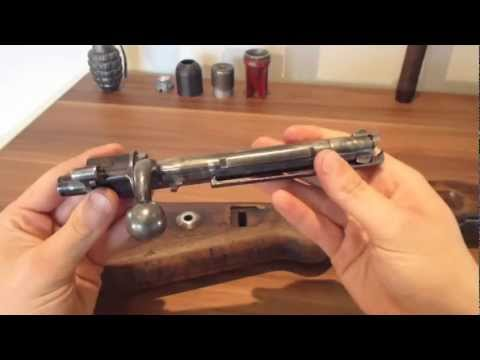 ww2 German k98 Mauser rifle bolt reassembly