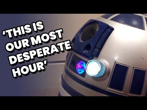 Star Wars: R2-D2 droid plays Princess Leia's message
