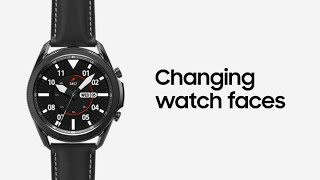 01. Galaxy Watch3: Changing watch faces   Samsung