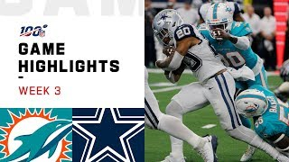 Dolphins vs. Cowboys Week 3 Highlights | NFL 2019