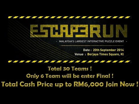Escape Run @  Malaysia 1st & Largest Interactive Puzzle Event - 20 September 2014