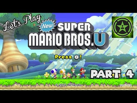 Let's Play - New Super Mario Bros. U Wii U Part 4