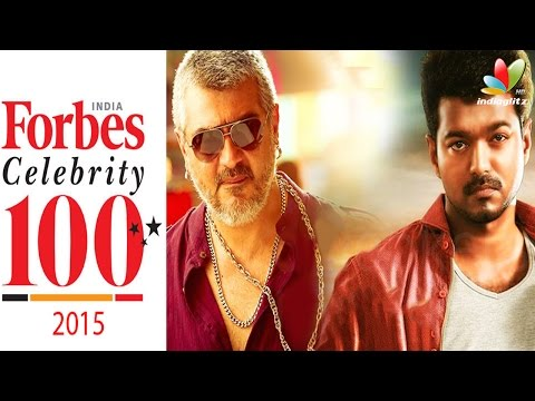 Ajith and Vijay not in India's famous celebrity list | 2015 Forbes Celebrity list
