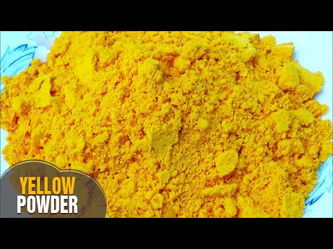 how to make Natural, Herbal & Organic Colours at home for Holi (Yellow Powder)/Gulal By LathaChannel
