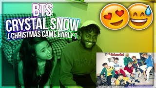 BTS | CRYSTAL SNOW PT. 1 - BLESSING CHRISTMAS WITH THEM VOCALS - NEW SONG [2017] !! | REACTION!!