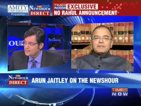 The Newshour Direct :  Arun Jaitley (16th Jan 2014)