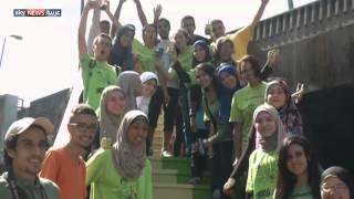 طلاء شوارع القاهرة بألوان زاهية