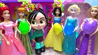 Disney Princess Dolls Ralph Breaks The Internet Vanellope Welcome Party Surprise Eggs Dress Presents
