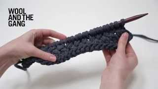 How to knit woven stitch