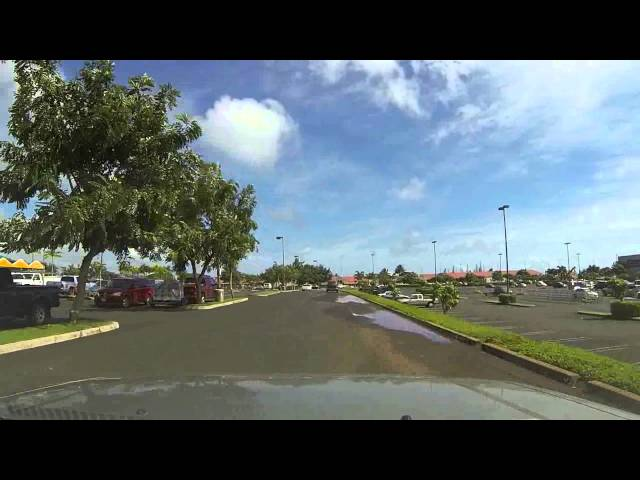 dash-cam go-pro circle city tour of lihue, kauai, hawaii  02-19-14