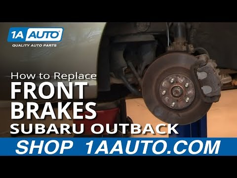 How To Replace Do a Front Disc Brake Job 2000-04 Subaru Outback