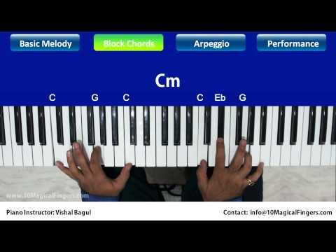 Pukarta Chala Hoon Main Piano Tutorial Melody | Chords | Arpeggios...
