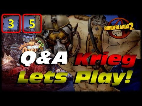 Borderlands 2 Krieg Q&A Lets Play Crossover Ep 35! Going To Oasis to Start Captain Scarletts DLC!
