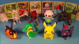 2011 POK??MON BLACK and WHITE SET OF 8 McDONALD'S HAPPY MEAL KIDS TOY'S VIDEO REVIEW