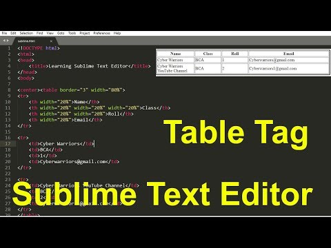 Download  19. Introduction to Sublime Text Editor 3, advantages of sublime, table tag in html Gratis, download lagu terbaru