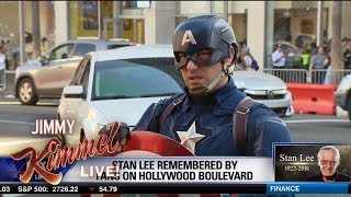 Hollywood Blvd Superheroes Mourn Stan Lee