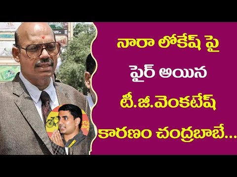 TG Venkatesh Sensational Comments On Minister Nara Lokesh ll Pulihora News