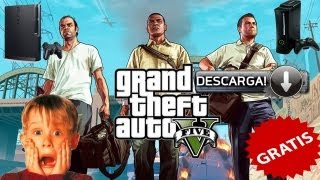Como descargar GTA 5 para Xbox 360 y PS3 gratis!! 2013 [HD]