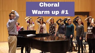Choral Warm up Video Demonstration