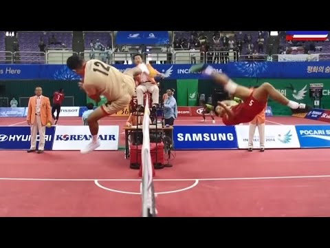 Thailand - Singapore 2014 Asian Games Sepaktakraw video