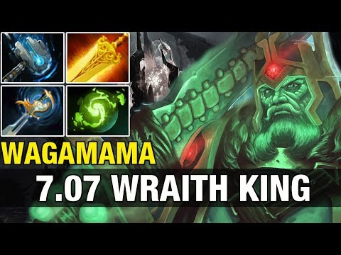 Patch 7.07 - Waga 7.8K Plays Wraith King DOTA TEST - Dota 2