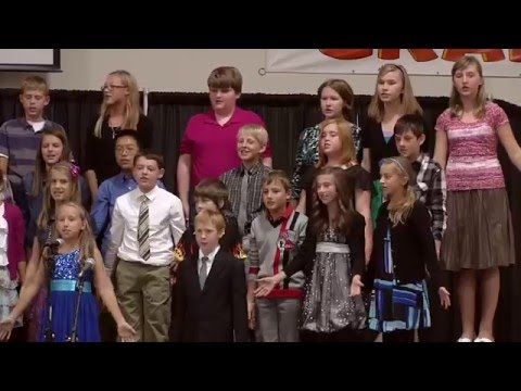 Santiam Christian School's Fifth and SIxth Grade Presentation at Grandparents Day 2012