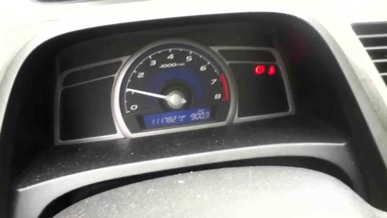 Resetting 2006 2011 Honda Civic Oil Life Youtube