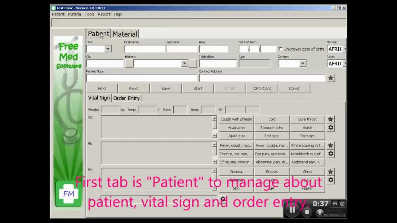 FreeMed New patient registration 1.0.13011 - Software Free