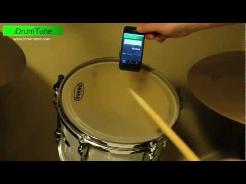 iDrumTune iPhone App - showing the drum tuning range for a 12