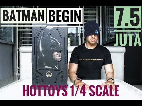 UNBOXING HOT TOYS 1/4 SCALE BATMAN BEGINS CHRISTIAN BALE!!! THE BEST BATMAN FOREVER!!!