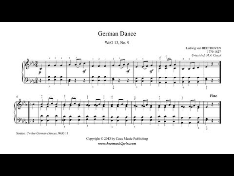 Бетховен Людвиг ван - German Dance