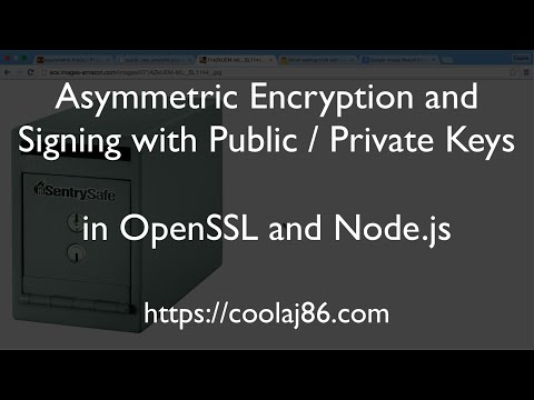 Asymmetric Encryption and Signing with Public Private Keys