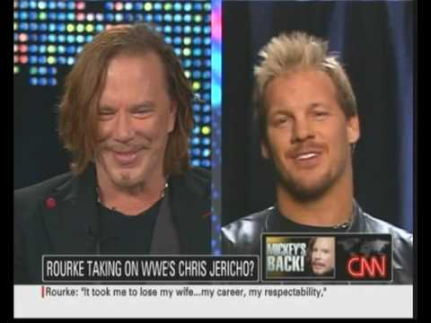 Chris Jericho and Mickey Rourke on Larry King Video