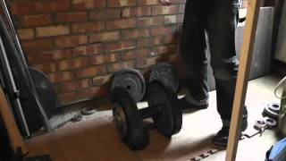 Fixed bar dumbbell (60mm) lift of 67.5kg