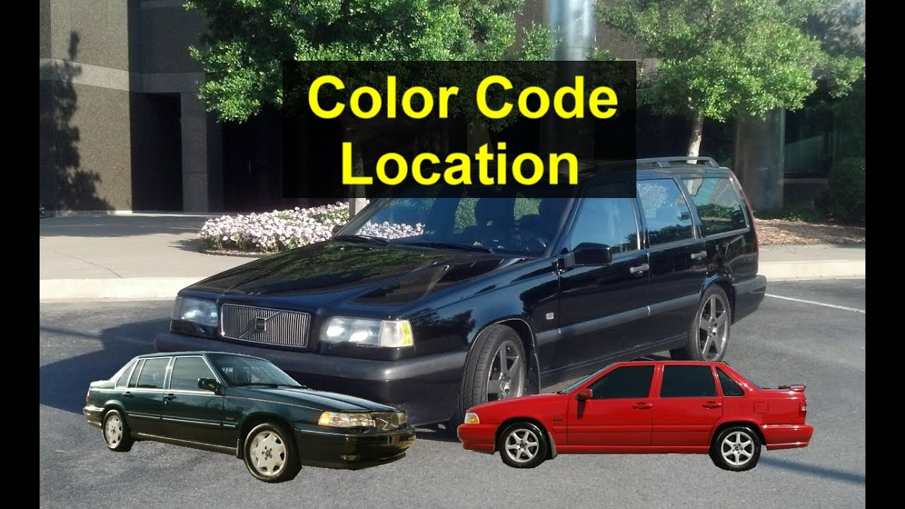 how to find the color code for your car paint and interior volvo 850. Black Bedroom Furniture Sets. Home Design Ideas