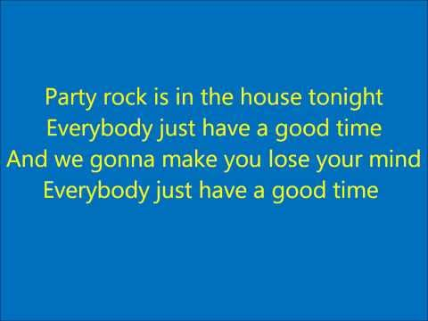 Party Rock Anthem With Lyrics And Video Lmfao Party Rock Anthem