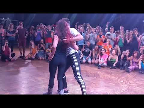 UZC2018 Workshop-2 demo by Anastasia & Reda ~ Zouk Soul