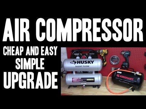 Air Compressor Simple Upgrade - CHEAP & EASY - Increase Tank Capacity!