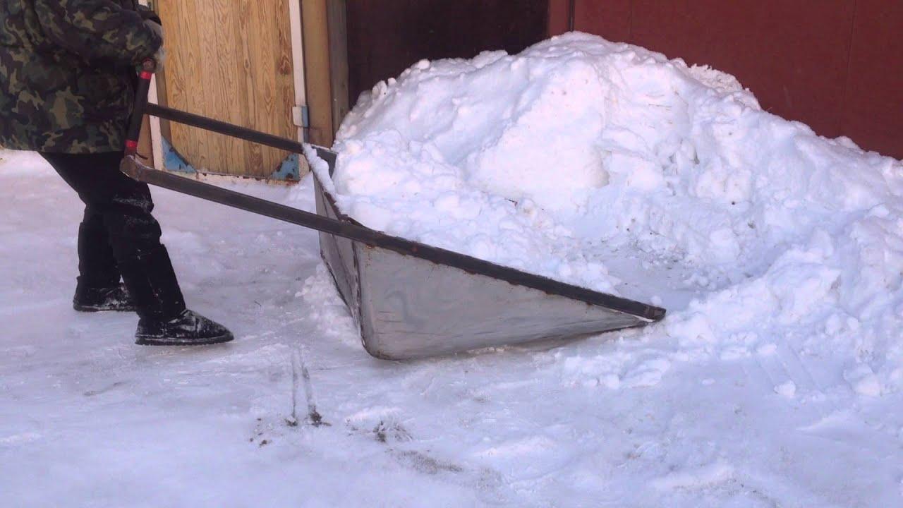 Пехло для уборки снега сделать своими руками