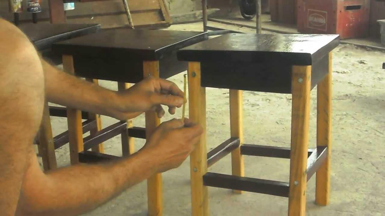 Artesanato Em Madeira Reciclada ~ BANQUINHO FEITO DE MADEIRA RECICLADA 2 YouTube